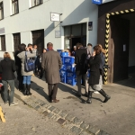 Předání dárků pro migranty – nezisková organizace